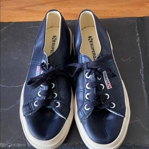 Navy Leather Supergas